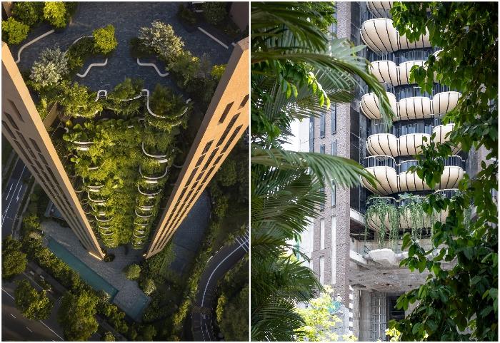 Вертикальные сады небоскреба Eden от Heatherwick Studio's стали райским местом Сингапура.