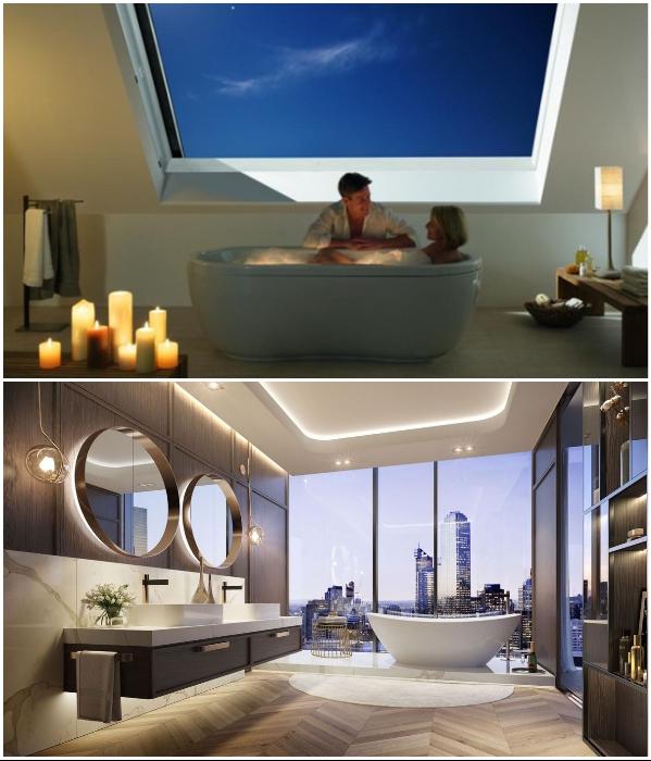 В такой ванной комнате романтическая обстановка будет круглосуточно.   Фото: archidea.com.ua/ yandex.ru.