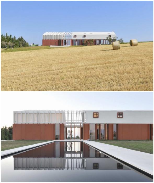 Необычные архитектурные формы загородной резиденции Border Crossing House (Италия).