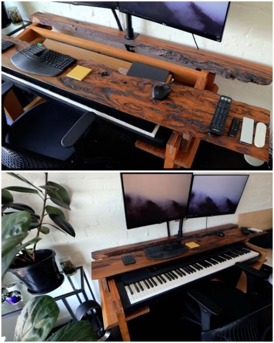 Уникальный рабочий стол - дипломная работа Дугласа Вана. | Фото: youtube.com.