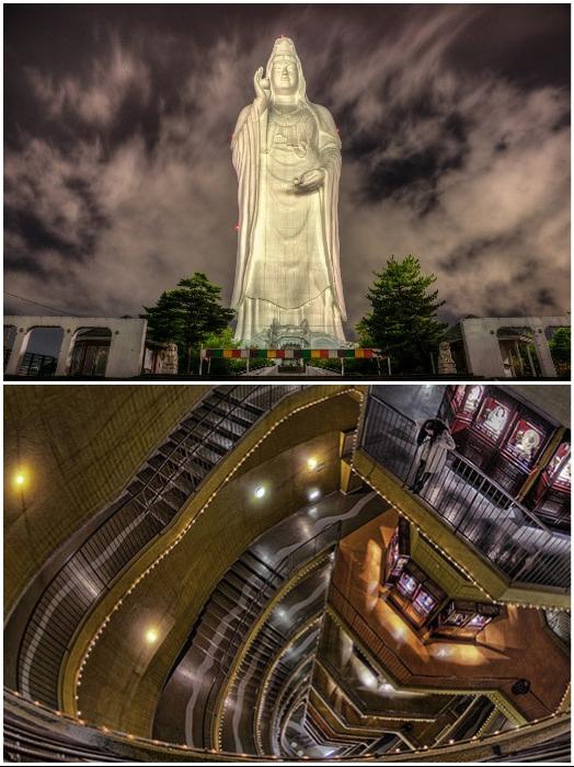 «Внутренний мир» статуи Богини милосердия Каннон не менее впечатляющий чем она сама (Сэндай, Япония). | Фото: masterok.livejournal.com/ travel.rambler.ru.