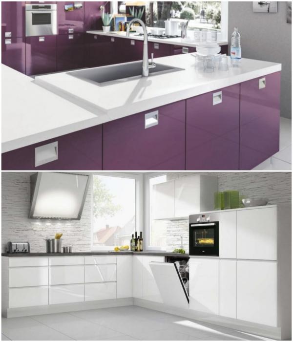 Скрытые и интегрированные ручки – идеальный вариант для современных моделей кухонного гарнитура. | Фото: bouw.ru/ remontkit.ru.