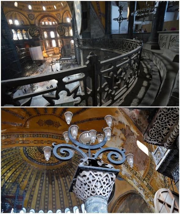 Понадобилось не одно десятилетие, чтобы восстановить духовный объект нескольких империй и религий (Hagia Sophia, Стамбул).