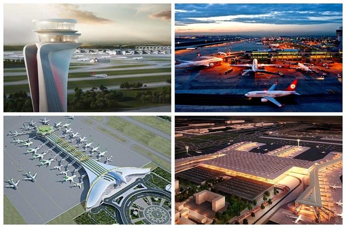 Летное поле аэропорта «Стамбул» (Турция).