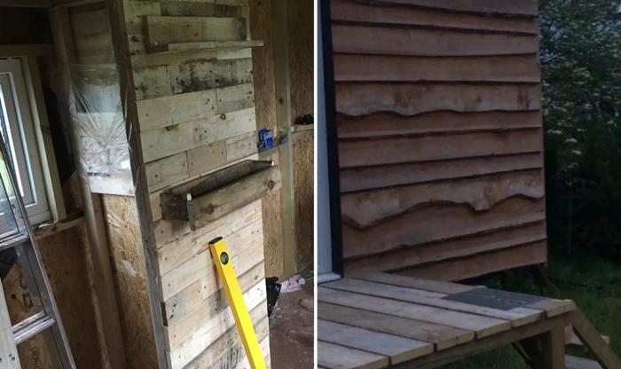 Для строительства и отделки своего крошечного дома, юноша использовал вторсырье или переработанные/возобновленные материалы. | Фото: instagram.com/ © Toms Tiny Home Project.
