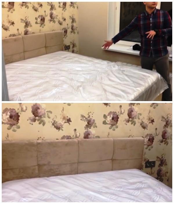 Спальня для родителей в обновленной квартире.