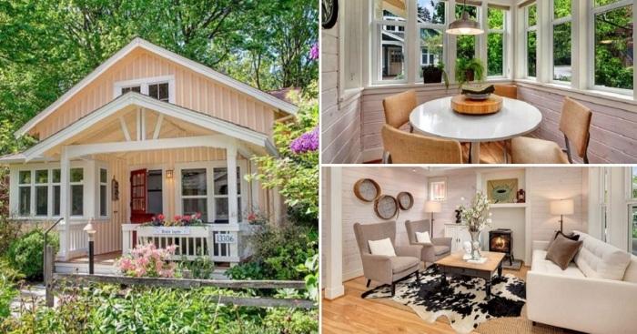 Даже на маленьких площадях можно создать идеальный загородный домик (коттедж Kvale Hytte, США). | Фото: pinterest.com.