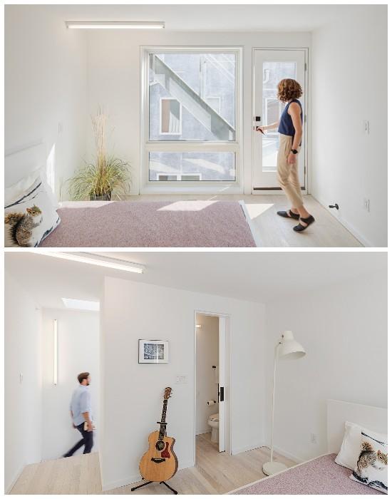 Две уютных спальни с ванными комнатами расположены на 4 и 5 этажах (Tiny Tower, Филадельфия).
