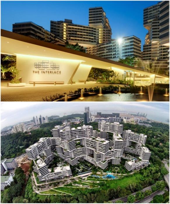 На территории комплекса есть все необходимое для проживания и активного отдыха («Interlace», Сингапур). | Фото: theedgeproperty.com.sg.