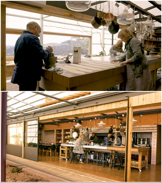 На кухне не только готовят кулинарные изыски, владельцы здесь проводят мастер-классы («Longhouse», Австралия). | Фото: realestate.com.au.