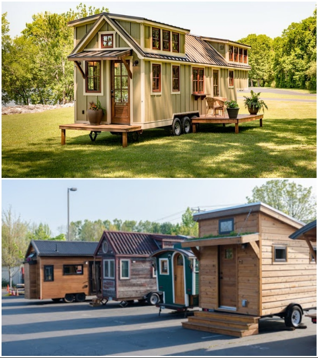 Устанавливать Tiny house можно только на собственном/арендованном участке земли или в специально отведенных местах. | Фото: tiny-house.me/ buzz-ultra.net.
