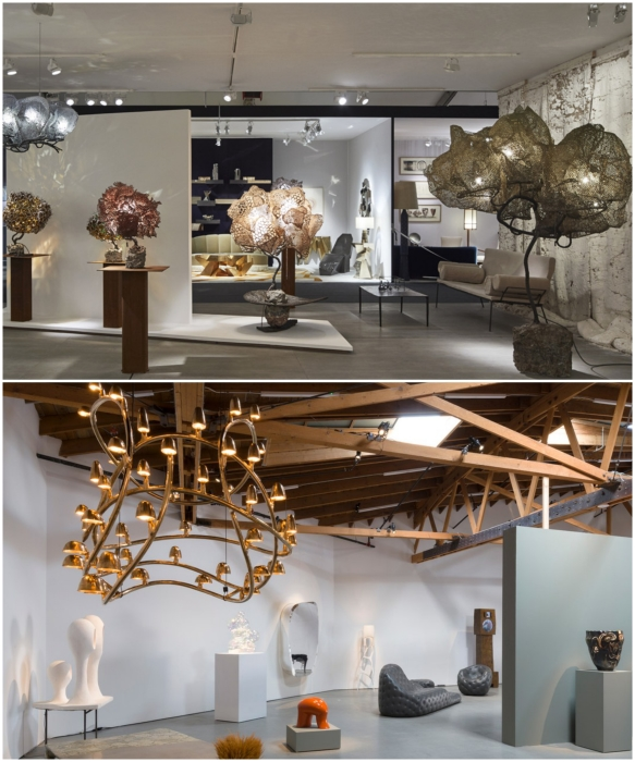 С первых же дней существования Carpenters Workshop Gallery стала модной и ультрасовременной выставочной площадкой коллекционного дизайна. | Фото: architecturaldigest.com/ pad-fairs.com.