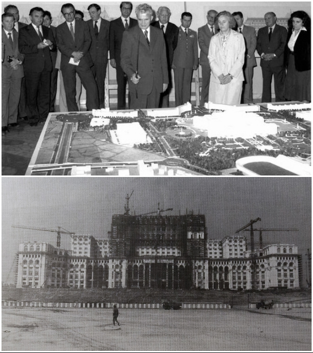 Понадобилось всего лишь 5 лет, чтобы закончить строительство и отделку гигантского архитектурного ансамбля (Дом Народа, Румыния).