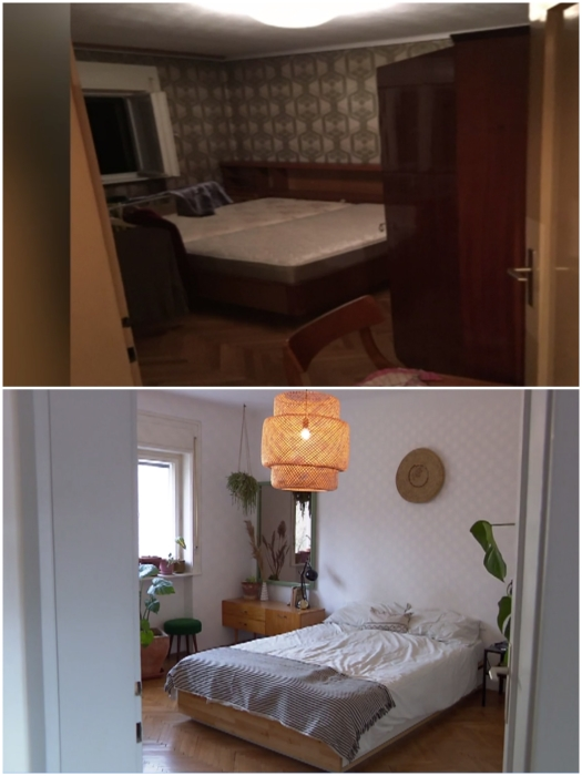 Спальня после ремонта преобразилась до неузнаваемости. | Фото: dominvrt.si.