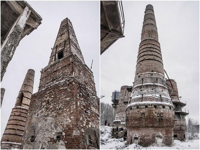 200 лет обжиговые печи позволяли получать строительную известь из мраморной крошки (Рускеала, Карелия).