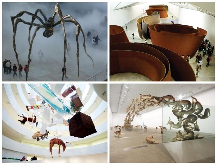 Экспозиции Guggenheim Museum под стать его архитектурным формам (Испания). | Фото: ru.depositphotos.com.