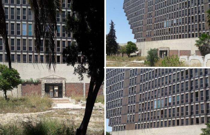 За 19 лет запустения реставрация так и не началась, и здание полностью обветшало (Hotel du Lac, Тунис). | Фото: pinterest.com.