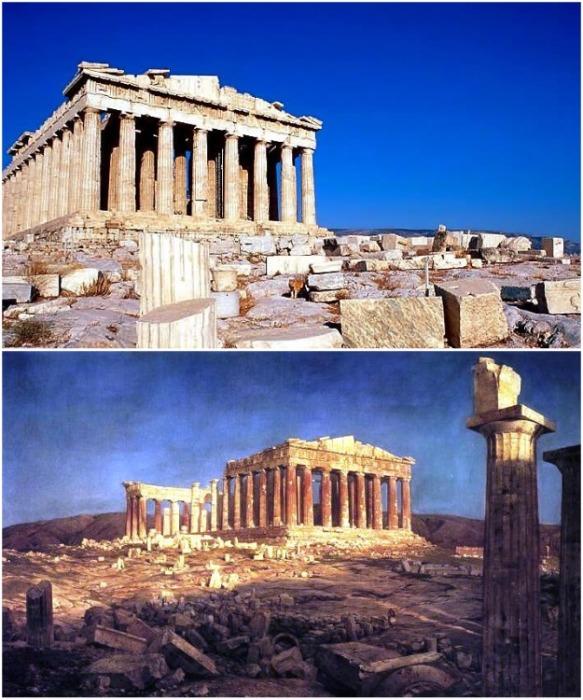 Храм Парфенон в Афинах. | Фото: sc.adm-edu.spb.ru.