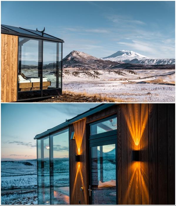 Благодаря обогреваемому стеклу окна в номере никогда на запотевают. | Фото: panoramaglasslodge.com.