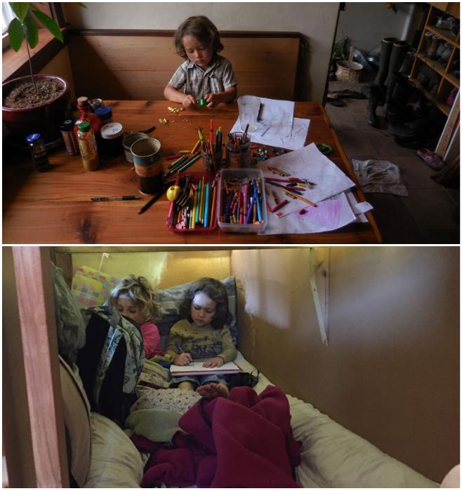 Реальная жизнь в тесноте счастья в детских глазах не вызывает. | Фото: tiny-house.me.