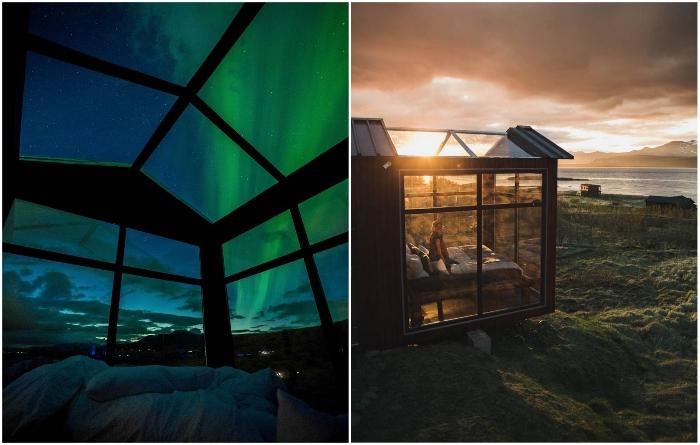 Стеклянные номера – идеальное место для наблюдения за изменчивостью природных явлений. | Фото: panoramaglasslodge.com.