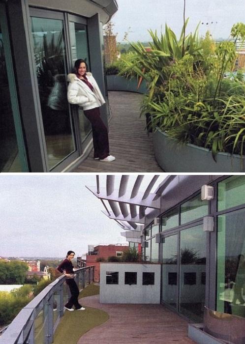 Огромный балкон лондонской квартиры Алсу. | Фото: vk.com.