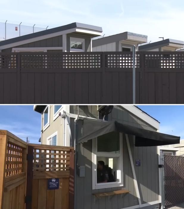 Полностью огороженная территория закрытого жилого комплекса будет круглосуточно охраняться («Bridge Housing Community», Сан-Хосе). | Фото: youtube.com/ ©  KPIX CBS SF Bay Area.
