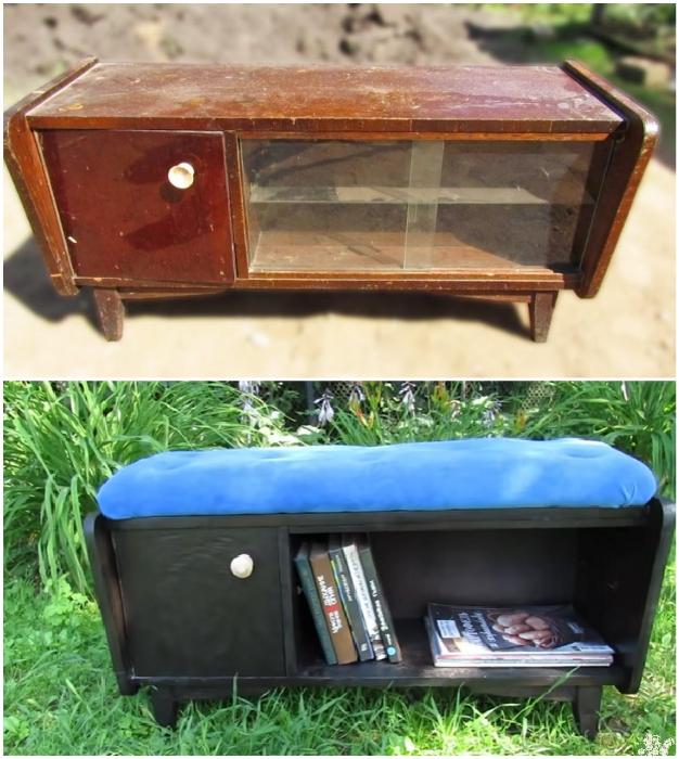 Приложив минимум усилий и без особых капиталовложений можно сделать полезный предмет мебели для дачи.