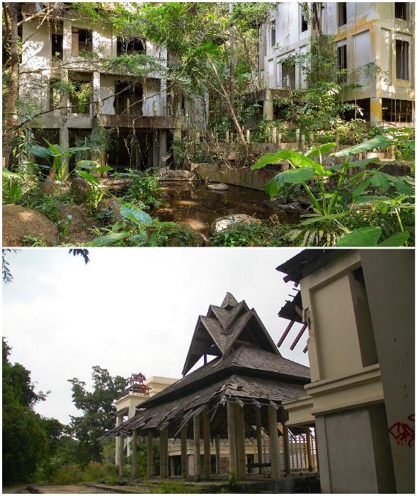 Все что осталось от грандиозного Phuket Peninsula Spa & Resort (о. Пхукет, Таиланд).