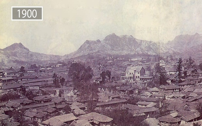 Сеул вначале прошлого века.