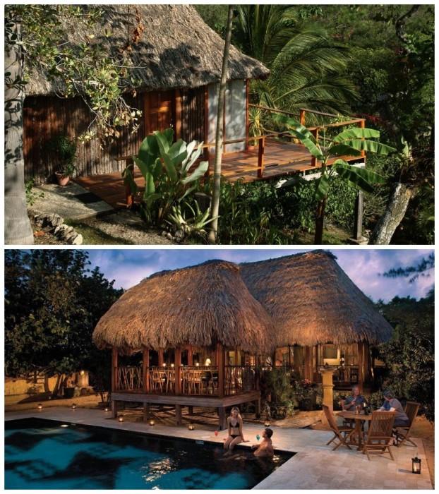 Бунгало отеля  Blancaneaux Lodge расположены в девственном лесу джунглей (Белиз). | Фото: anywhere.com/ anywhere.com.