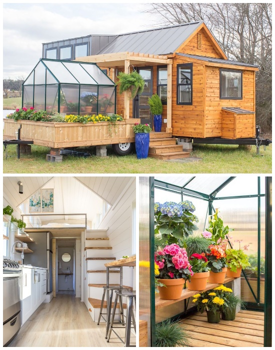 Tiny House «Эльза», разработанная компанией Olive Nest состоит из двух фургонов, один из которых является теплицей. | Фото: <br>aradijsvogelsmagazine.nl.