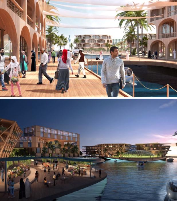 Концепт строительства плавучей коммуны Oceanix City разработал архитектор Бьярке Ингельс и дизайнерская фирма Oceanix. | Фото: hightech.plus.