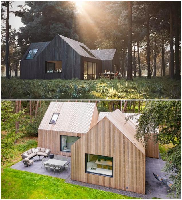 Возле каждой комнаты оформлены открытые террасы для отдыха на свежем воздухе («Villa Tonden», Нидерланды). | Фото: hofmandujardin.nl.
