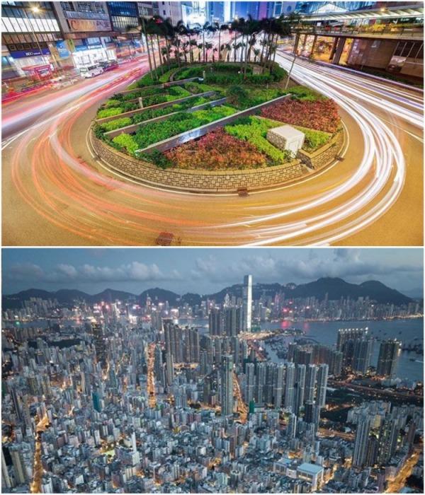 Контрасты суетного Гонконга (Китай). | Фото: instagram.com/ Lee Mumford.