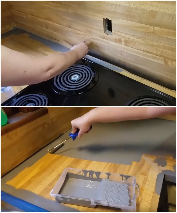 Грунтовка и базовая краска наносятся плотным слоем. | Фото: youtube.com/ Lisa Capen Quilts.