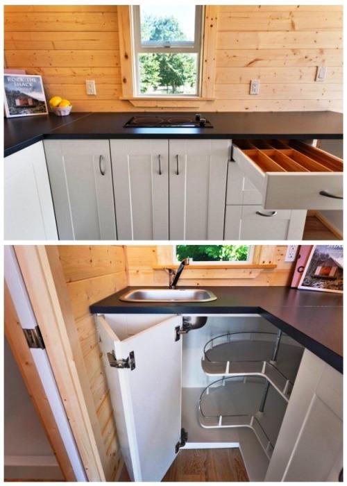 Многофункциональный кухонный уголок настоящая находка для маленьких площадей («Poco Pink», Канада). | Фото: lemurov.net.