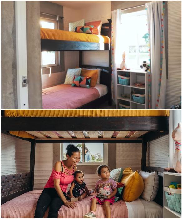 Детская спальня уже полностью готова принимать самых маленьких новоселов. | Фото: newatlas.com/ youtube.com. © New Story.