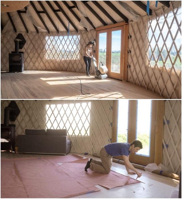 Все отделочные работы молодые супруги делали сами. | Фото: boredpanda.com.