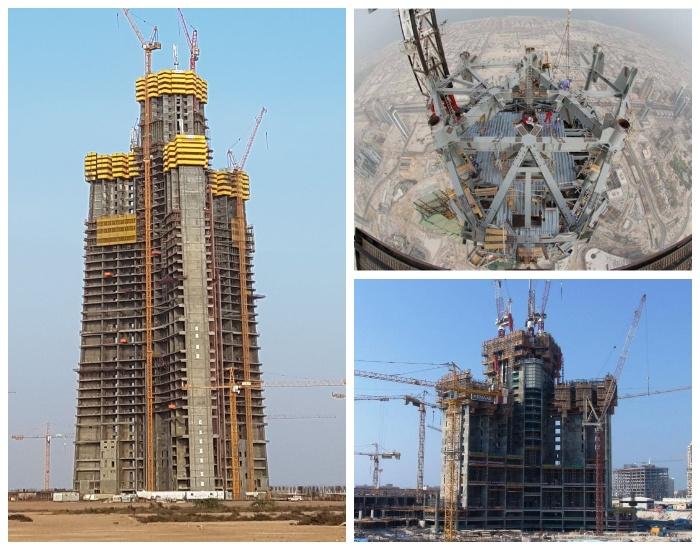 Строительство самого высокого здания мира (Бурдж Халифа, Дубай). | Фото: kurortyoae.ru