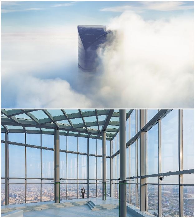 «Платиновые апартаменты» расположены на вершине Башни «Восток» (ММДЦ «Москва-Сити»).