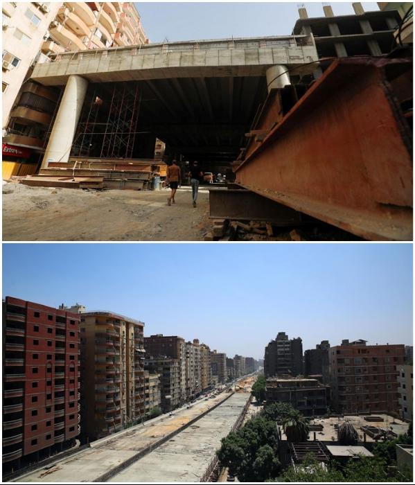 Египетские власти разрешили построить скоростную магистраль в центре жилого района («Teraet Al-Zomor Bridge», Гиза). | Фото: laguiadelvaron.com/ businessinsider.es.