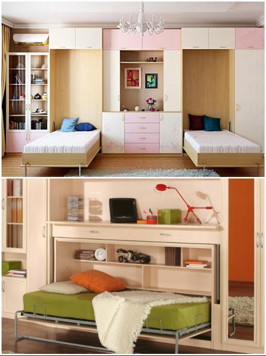В детской комнате «умная» мебель позволит организовать место для игр. | Фото: yandex.com/ president-mobility.ru.