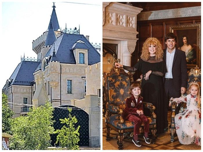 Замок Аллы Пугачевой и Максима Галкина в деревне Грязь.