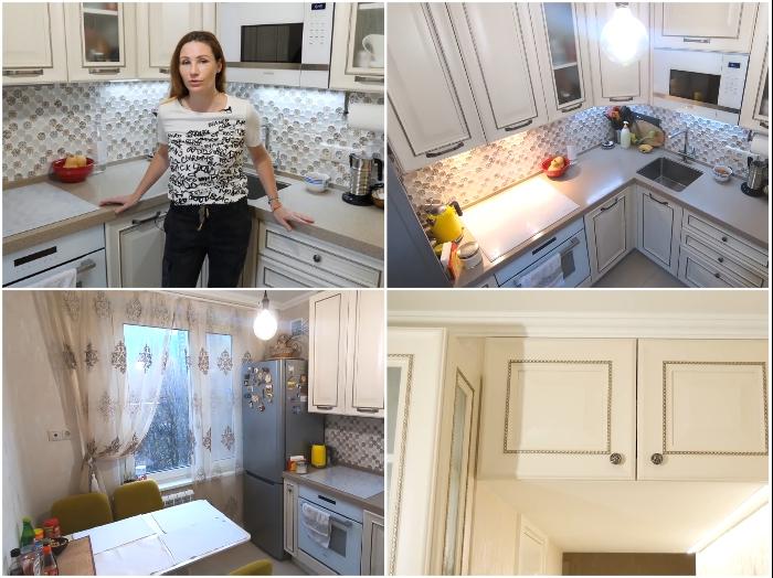 Маленькая площадь кухни, оформленная в светлых тонах – всегда выигрышный вариант. | Фото: youtube.com/ © Irin Andrez.