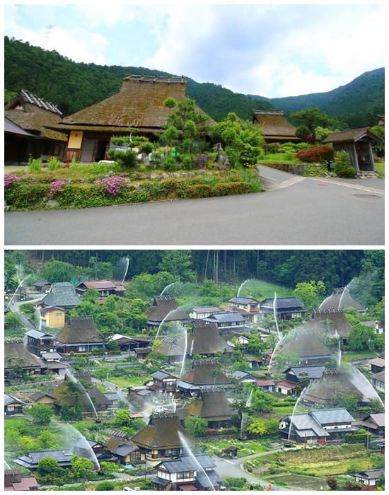«Деревня тростниковых крыш» два раза в год превращается в настоящий водяной аттракцион (Япония). | Фото: japanhoppers.com.