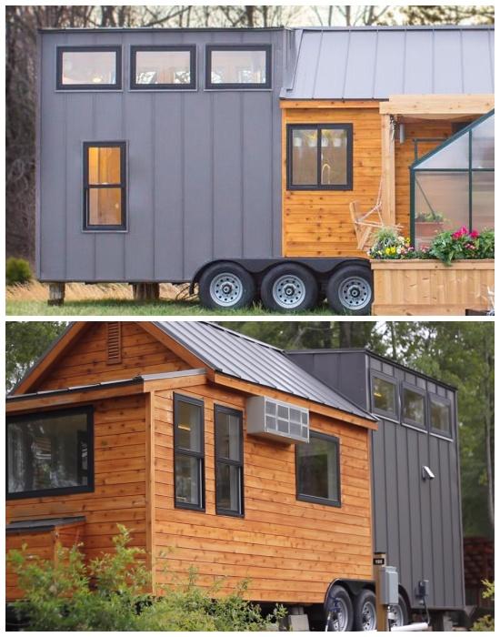 Для облегчения конструкции фургона использовали металлические профильные листы (дом-фургон «Эльза»).| Фото:  youtube.com.