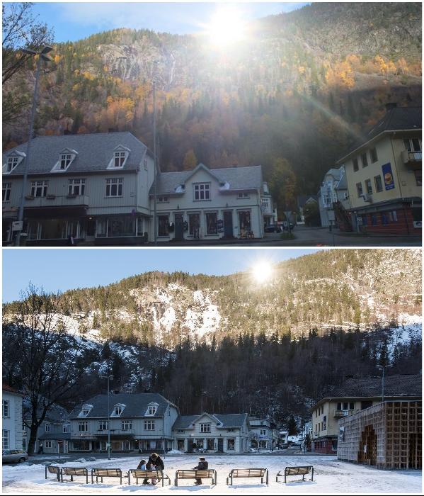 Более 100 лет жители норвежского городка Рьюкан с сентября по март не видели солнца (Норвегия). | Фото: erdetmulig.no/ industriarven.no.