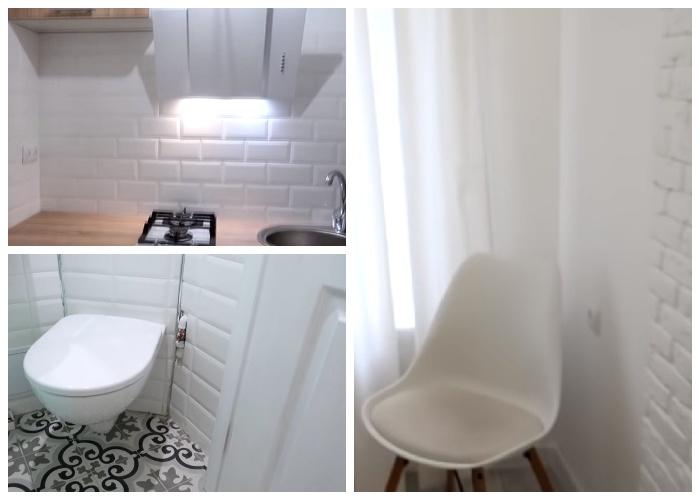 Для визуального увеличения пространства стены во всей квартире сделали белоснежными. | Фото: youtube.com.