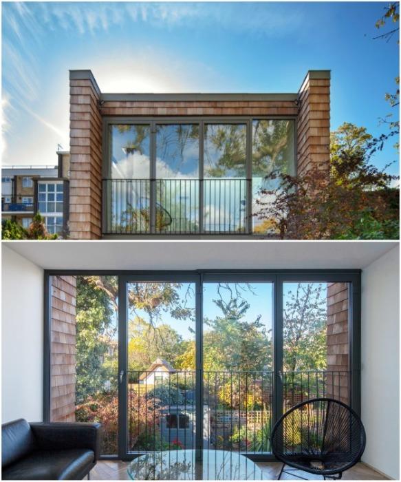 Панорамные окна обеспечивают жилое пространство солнечным светом (Gouse, Лондон). | Фото: architectsjournal.co.uk.